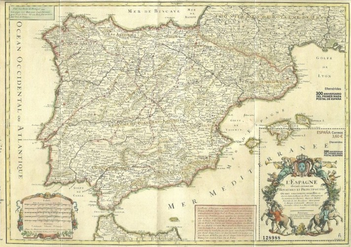 [The 300th Anniversary of the First Postal Map of Spain, type ]