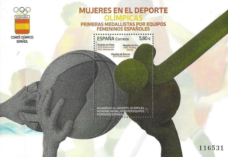 [Women in Sports - Olympics First Medalists by Spanish Women Teams, type ]