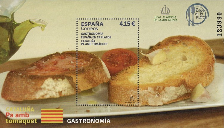 [Gastronomy - Spain in 19 Plates - Catalonia Bread and Tomatoes, type ]