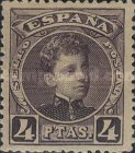 [King Alfonso XIII - Blue Control Numbers on Backside, type AT10]