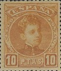 [King Alfonso XIII - Blue Control Numbers on Backside, type AT11]