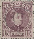 [King Alfonso XIII - Control Number on Backside - New Colors, type AT14]