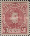 [King Alfonso XIII - Control Number on Backside - New Colors, type AT15]