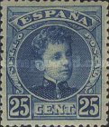 [King Alfonso XIII - Blue Control Numbers on Backside, type AT5]