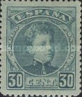 [King Alfonso XIII - Blue Control Numbers on Backside, type AT6]
