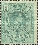 [King Alfonso XIII - Blue Control Numbers on Backside, type BG1]