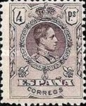 [King Alfonso XIII - Blue Control Numbers on Backside, type BG10]
