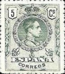 [King Alfonso XIII - As Previous With Different Perforation, type BG13]