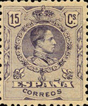 [King Alfonso XIII - As Previous With Different Perforation, type BG15]