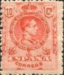 [King Alfonso XIII - Blue Control Numbers on Backside, type BG2]