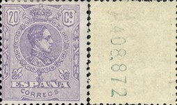 [King Alfonso XIII - Different Colors, type BG27]