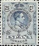 [King Alfonso XIII - Blue Control Numbers on Backside, type BG5]