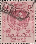 [King Alfonso XIII - Blue Control Numbers on Backside, type BG7]