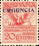 [Express Stamps - No. 435 Overprinted URGENCIA, type CJ]