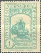[The 11th International Railway Congress, Madrid - Blue Control Numbers on Back, type CK]