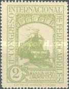 [The 11th International Railway Congress, Madrid - Blue Control Numbers on Back, type CK1]