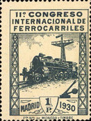 [The 11th International Railway Congress, Madrid - Blue Control Numbers on Back, type CK10]