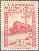[The 11th International Railway Congress, Madrid - Blue Control Numbers on Back, type CK11]
