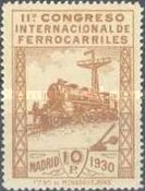 [The 11th International Railway Congress, Madrid - Blue Control Numbers on Back, type CK12]