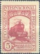 [The 11th International Railway Congress, Madrid - Blue Control Numbers on Back, type CK2]