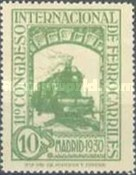 [The 11th International Railway Congress, Madrid - Blue Control Numbers on Back, type CK3]