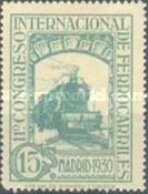 [The 11th International Railway Congress, Madrid - Blue Control Numbers on Back, type CK4]