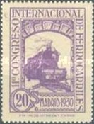 [The 11th International Railway Congress, Madrid - Blue Control Numbers on Back, type CK5]