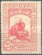 [The 11th International Railway Congress, Madrid - Blue Control Numbers on Back, type CK6]