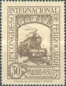 [The 11th International Railway Congress, Madrid - Blue Control Numbers on Back, type CK7]