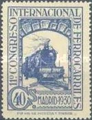 [The 11th International Railway Congress, Madrid - Blue Control Numbers on Back, type CK8]