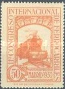 [The 11th International Railway Congress, Madrid - Blue Control Numbers on Back, type CK9]