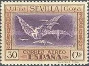 [Airmail - The 100th Anniversary of the Death of Francisco de Goya, type CS]