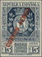 [Airmail - National Philatelic Exhibition, Madrid - As Previous, in Different Colour and Overprinted CORREO AEREO, type GW1]