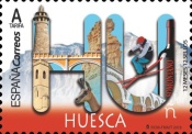 [12 Month, 12 Stamps - Huesca, type GXE]