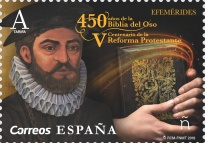 [The 450th Anniversary of the First Edition of the Bible in Spanish, type GXJ]
