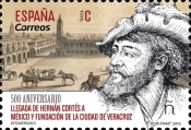 [The 500th Anniversary of the Arrival to Mexico of Hernán Cortés, 1485-1547, type GYN]