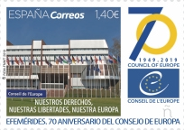[The 70th Anniversary of the Council of Europe, type GYR]