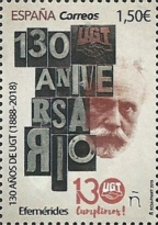 [The 130th Anniversary of the UGT - General Workers' Union, type GZI]
