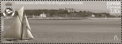 [The 150th Anniversary of the Santander Royal Yacht Club - Holographic Design 4 Images in 1 Stamp, type HCU]