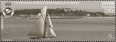 [The 150th Anniversary of the Santander Royal Yacht Club - Holographic Design 4 Images in 1 Stamp, type HCV]