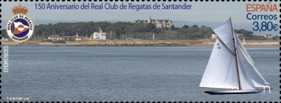 [The 150th Anniversary of the Santander Royal Yacht Club - Holographic Design 4 Images in 1 Stamp, type HCX]