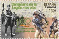 [Efemerides - The 100th Anniversary of the Legion, type HEB]