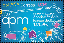 [The 125th Anniversary of the Madrid Press Association, type HEO]