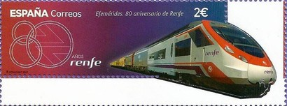 [The 80th Anniversary of the Renfe Operadora National Rail Company, type HES]