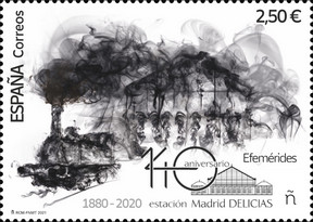[Efemerides - The 140th Anniversary of Madrid Delicias Station, type HFN]