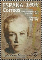 [Gabriela Mistral, 1889-1957 - Joint Issue with Chile, type HHB]