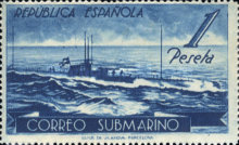 [Submarine Post between Barcelona and Mahon, type HY]