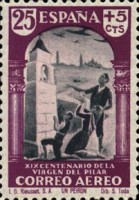 [Airmail - The 1900th Anniversary of the Appearance of the Virgin of Pillar, Sarragosa, type LS]