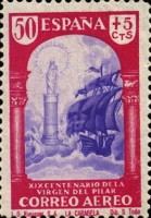 [Airmail - The 1900th Anniversary of the Appearance of the Virgin of Pillar, Sarragosa, type LT]