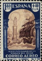 [Airmail - The 1900th Anniversary of the Appearance of the Virgin of Pillar, Sarragosa, type LT1]